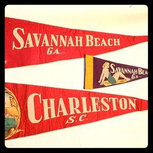 50's pennant Savannah beach GA, Charleston SC